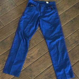 Other - BLUE PANTS WITH RED STRIPE